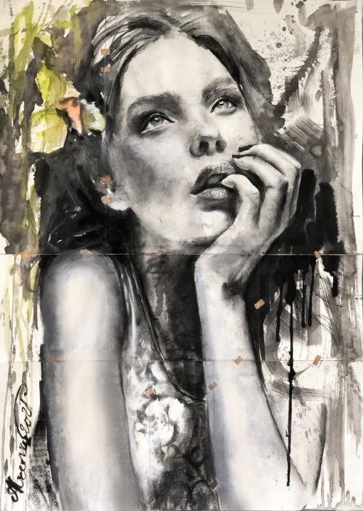 Emilia - Original Art by Alremo